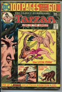 TARZAN #234 1975-DC-EDGAR RICE BURROUGHS-GIANT ISSUE-JOE KUBERT JUNGLE ART-fn