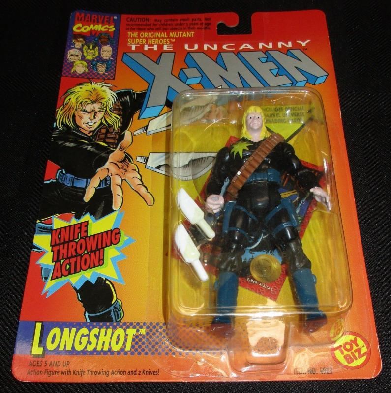 Uncanny X-Men Longshot Action Figure (Marvel, 1993) - New/Sealed!