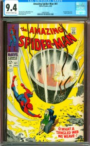 Amazing Spider-Man #61 CGC Graded 9.4 1st Gewn Stacy Cover