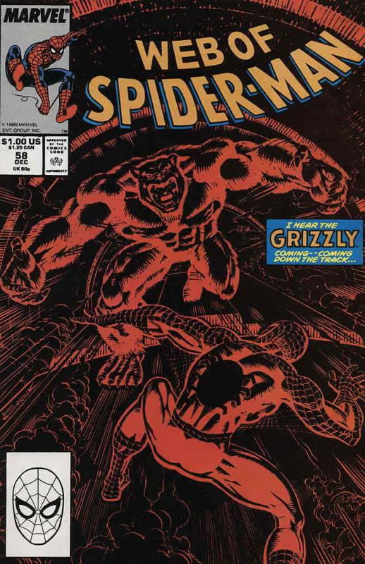 Web of Spider-Man, The #58 FN; Marvel | save on shipping - details inside