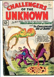 CHALLENGERS OF THE UNKNOWN #24 - 1962 - Multi-Man G