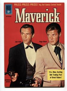 MAVERICK #16 1961-DELL-JACK KELLY-ROGER MOORE-TV SERIES PHOTO COVER-VF+