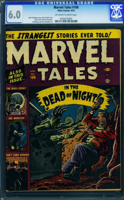 MARVEL TALES-#106 cgc 6.0-Russ Heath- Krigstein - 0245670002