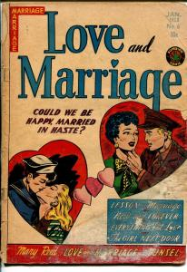 Love and Marriage #6 1953-Superior-spicy art-stepping out of panels-P