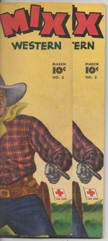 7f971736 Tom Mix Western Double Cover #3 (Mar-48) VF/NM High-Grade Tom Mix / HipComic