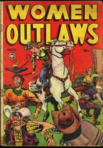 WOMEN OUTLAWS #3-SPICY ART-FOX COMICS-WESTERN-1948 G/VG