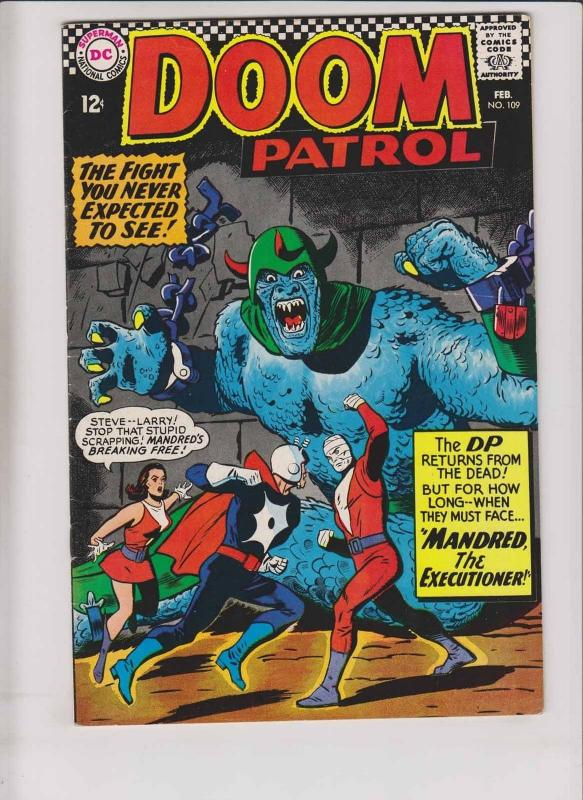 Doom Patrol #109 VF- february 1967 - brotherhood of evil - silver age dc comics