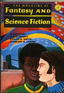 MAGAZINE OF FANTASY AND SCIENCE FICTION-March 1969-Science Fiction Pulp Thrills