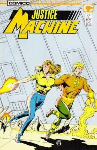 Justice Machine (1987 series) #17, NM + (Stock photo)