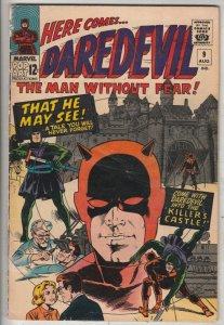 Daredevil #9 (Jun-65) VG/FN+ Mid-Grade Daredevil