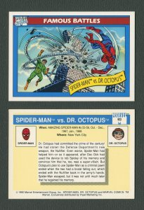 1990 Marvel Comics Card  #93 (Spiderman/Doc Ock) / MINT