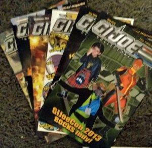 6 2013 brand new GI Joe collectors guide