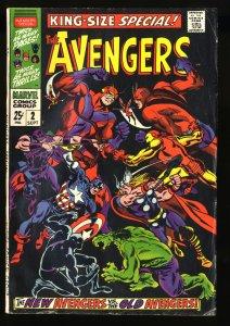 Avengers Annual #2 VG+ 4.5 1st Scarlet Centurion!