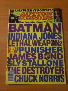 Action Heroes #1 ~ VERY FINE - NEAR MINT NM ~ 1989 Magazine POSTERS INTACT!