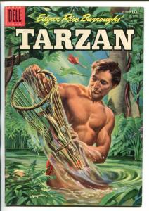 TARZAN #73-1955-DELL-EDGAR RICE BURROUGHS-JESSE MARSH-RUSS MANNING-vf minus