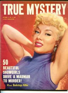 TRUE MYSTERY-OCT 1954 -SPICY-MURDER-KIDNAP-ROBERRY-DISMEMBERMENT-fine FN