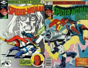 SPIDERWOMAN  28-29  SPIDERMAN 2-part xover!!!!