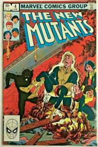 NEW MUTANTS#4 VF 1983 MARVEL COMICS
