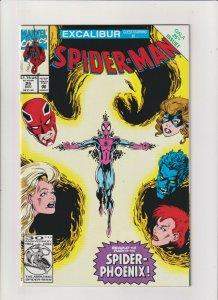 Spider-man #25 NM- 9.2 Marvel Comics 1992 Excalibur app. Spider-Phoenix