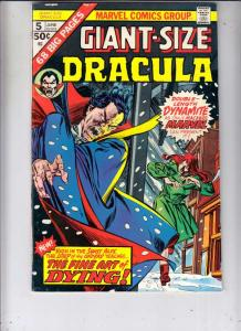 Giant-Size Dracula #5 (Jun-75) VF/NM+ High-Grade Dracula