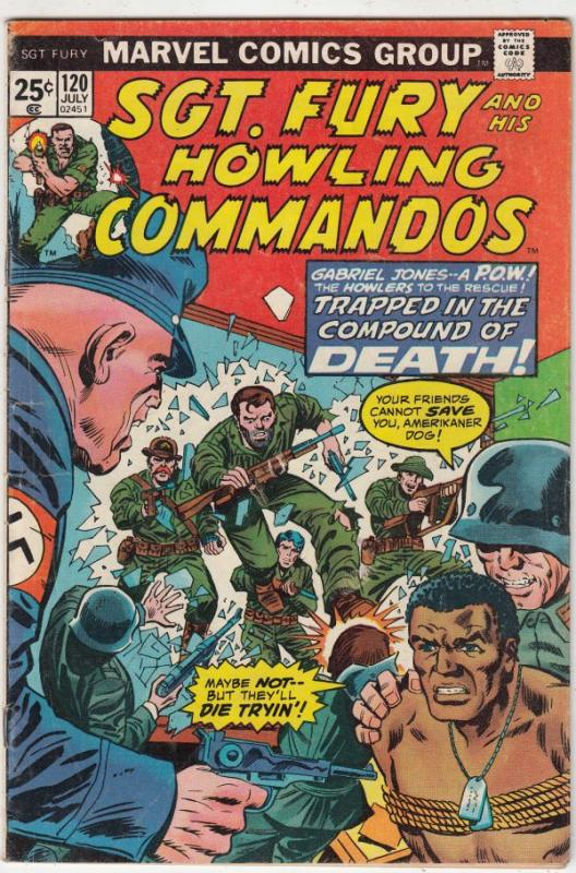 Sgt. Fury and His Howling Commandos #120 (Jul-74) FN Mid-Grade Sgt. Fury, How...