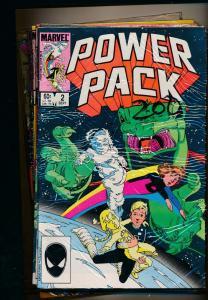 MARVEL LOT OF 10-POWER PACK #2,4,5,6,7,13,17,20,23,25 1984/85 F/VF (PF81)