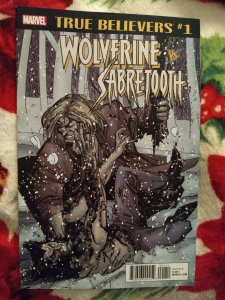 Wolverine Vs. Sabertooth True Believers #1 NM