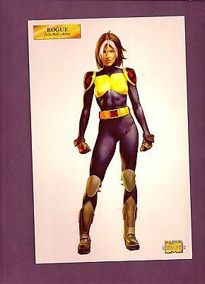 Marvel MasterPrint(2001)ROGUE,by Julie Bell see actual it...