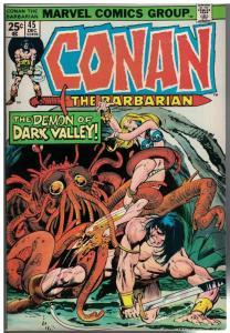CONAN THE BARBARIAN 45 FN Dec. 1974