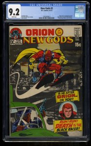 New Gods #3 CGC NM- 9.2 White Pages 1st Black Racer!