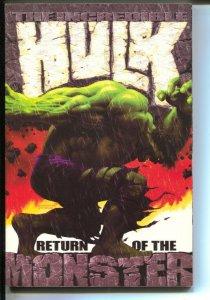 Incredible Hulk: Return Of The Monster-Bruce Jones-2002-PB-VG/FN