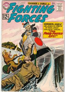 Our Fighting Forces #72 (Nov-62) VG/FN Mid-Grade Gunner and Sarge, Pooch