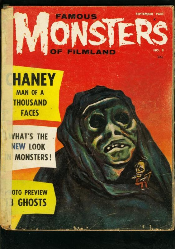 FAMOUS MONSTERS OF FILMLAND #8 1960-13 GHOSTS-LON CHANEY-MOLE PEOPLE P/FR