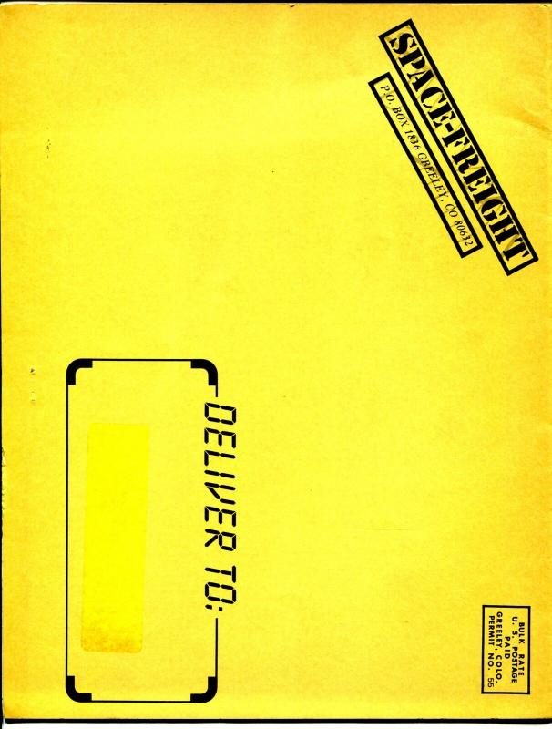 Space Freight-Sci-Fi Memorabilia Sales Catalog 1980's-books-posters-FN/VF