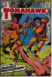 Tomahawk #61 1959-DC-1st monkey cover-Frontier Chimp-Indians-G