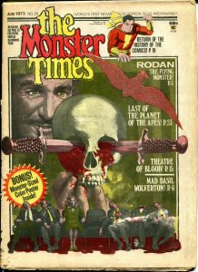 The Monster Times #24 Horror Newspaper 1973 Theatre of Blood Rodan Planet Apes