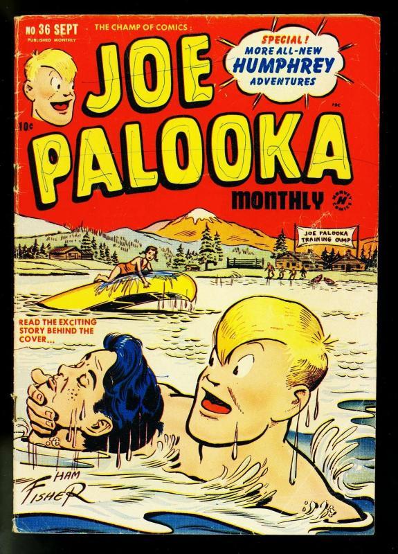 Joe Palooka #36 1949- Harvey Comics- Ham Fisher- Boxing- G