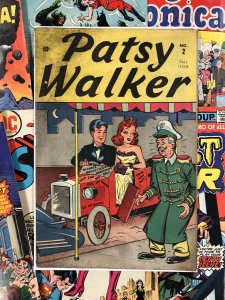 Patsy Walker #2 VG+ 10c golden age AMERICANA 1945 marvel comics BARD PUBLISHING