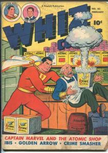 WHIZ #82 1947-FAWCETT-CAPT MARVEL-GOLDEN ARROW-WOLVERTON-CRIME  SMASHER-vg