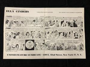 Ella Cinders Newspaper Comic Dailies Proof Sheet 4/21/1952