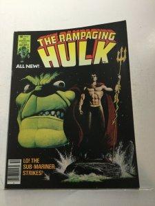 The Rampaging Hulk 5 Nm Near Mint Marvel Magazine