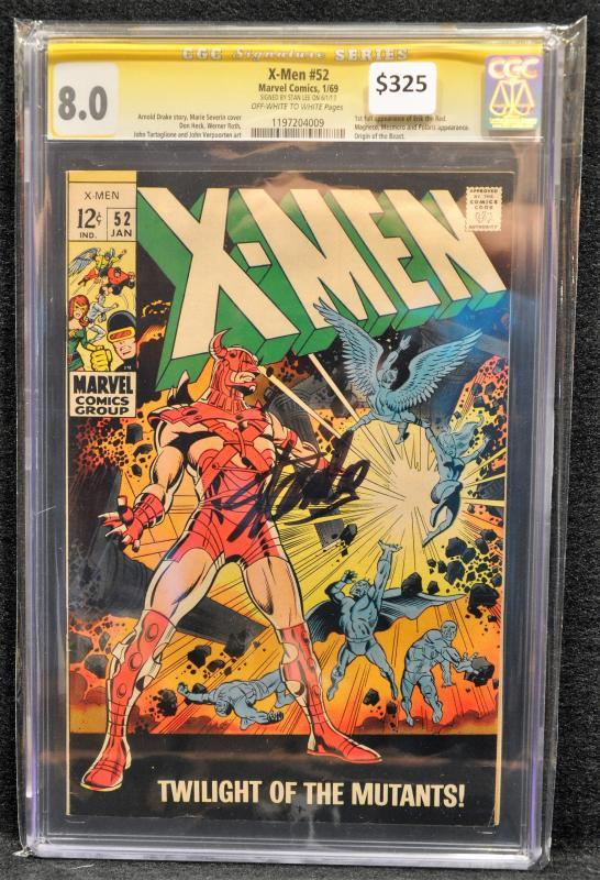 X-Men #52 CGC 8.0 SS Stan Lee