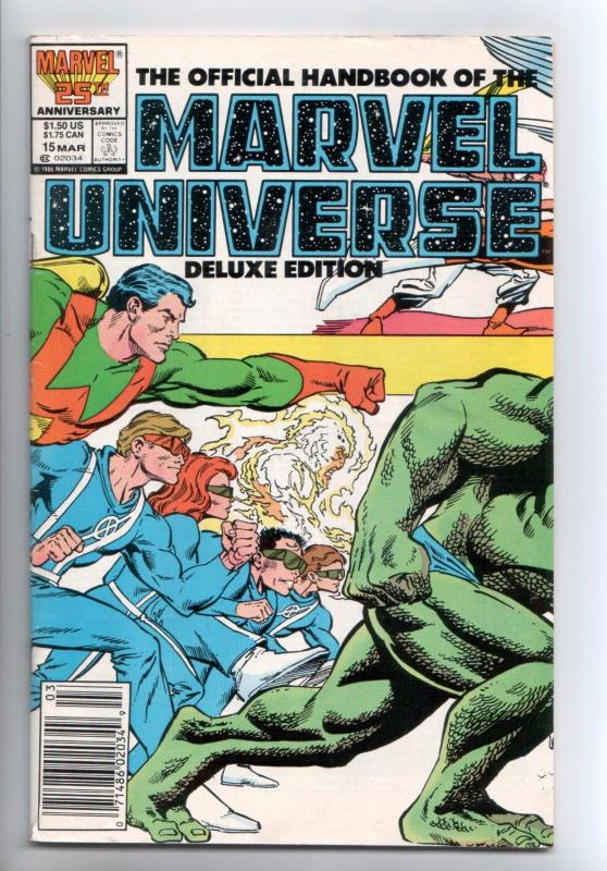 Official Handbook of the Marvel Universe Deluxe Edition #15 (Marvel, 1987) FN-