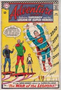 Adventure Comics #355 (Apr-67) VF+ High-Grade The Adult Legion of Super-Heroe...