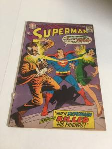 Superman 203 Vg Very Good 4.0 Cover Detached DC Comics Silver Age