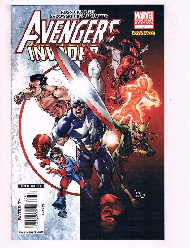 Avengers Invaders # 7 NM Variant Marvel Comic Book Iron Man Hulk Thor Ross BN10