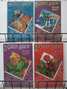GREEN ARROW 21-24 BLOOD OF THE DRAGON complete SHADO