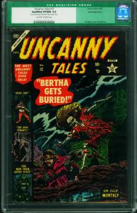 UNCANNY TALES #12-CGC 9.0-White Mountain Pedigree-Atlas Horror 0006749018
