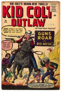 Kid Colt Outlaw #89 1960-Marvel-Jack Kirby cover VG/FN