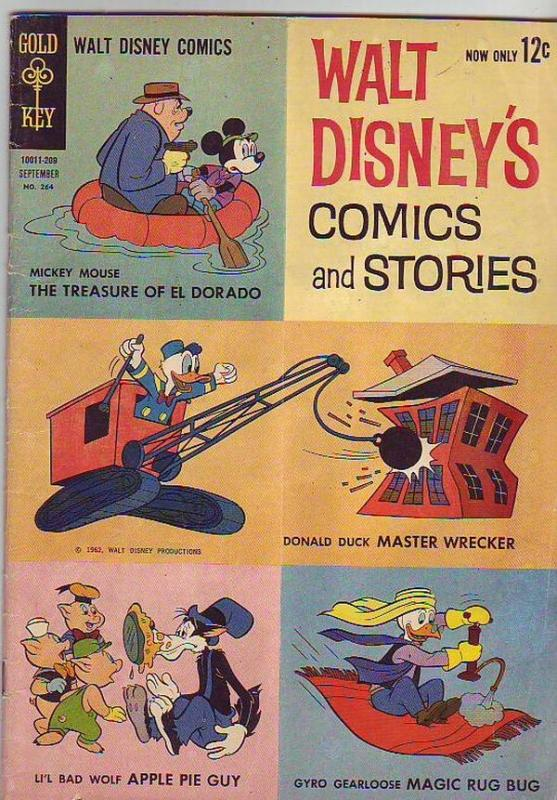 Comics and Stories, Walt Disney's #264 (Sep-62) VG Affordable-Grade Donald Du...